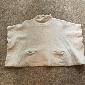 Aritzia Wool Poncho With pockets